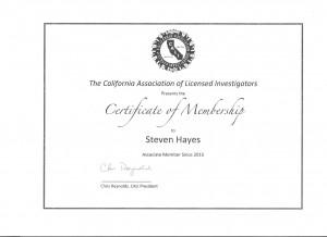 CALI Membership Certificate